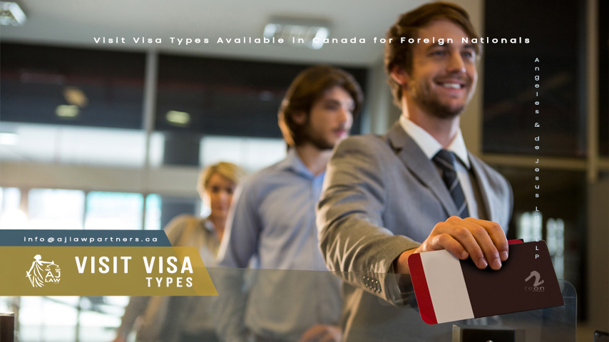 Visit Visa Types Available in Canada for Foreign Nationals
